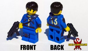 Custom LEGO Minifigure: Post-Nuclear Fallout Shelter Survivor