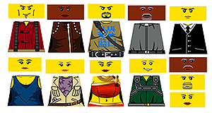 Custom LEGO Minifig Decals: Space Cowboys