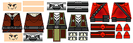 Space Wars Custom LEGO Minifigure Decals: Star Lords