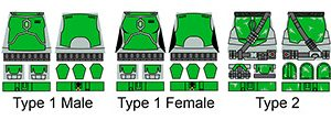 Space Wars Bounty Hunter Armor LEGO Minifig Decals