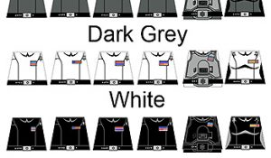 Space Wars Custom LEGO Minifigure Decals: Star Imperial Officers