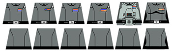 Space Wars Imperial Officer Uniforms Decals