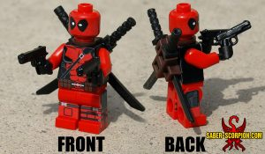 Custom LEGO Minifigure: Superhero Red Merc