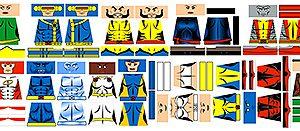 Custom Minifig Decals: Superhero Mutant Team