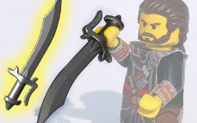 BrickWarriors Scimitar Sword