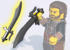BrickWarriors Scimitar Sword