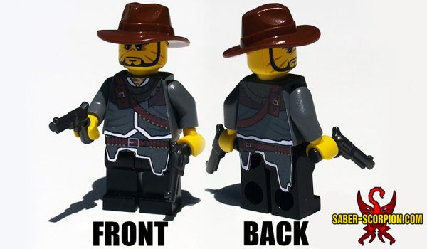 Custom LEGO Minifigure: Wild West Gunslinger