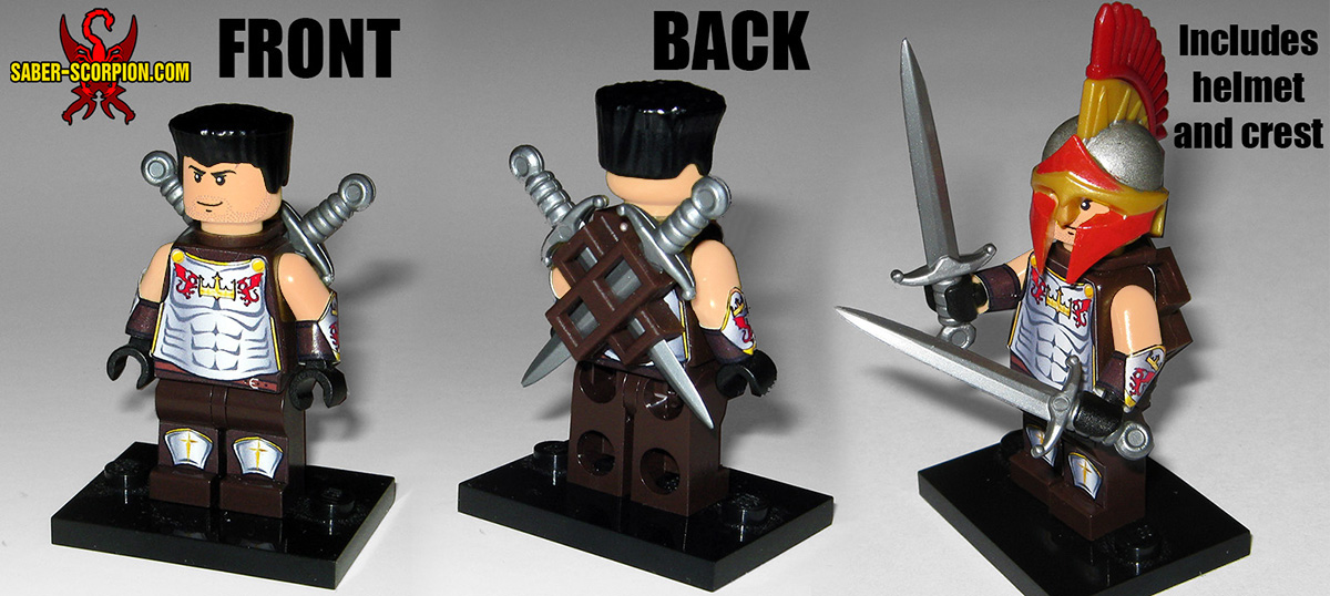 Custom LEGO Minifigure: Sir Tom Drake of Wulfgard