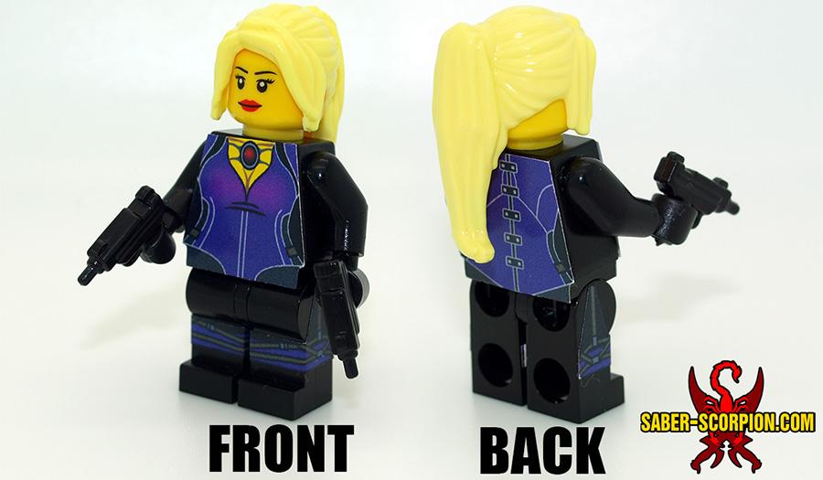 Custom LEGO Minifigure: Zombie Survivor: Female Cop