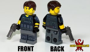 Custom LEGO Minifigure: Zombie Survivor: Male Soldier