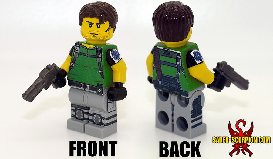 Custom LEGO Minifigure: Zombie Survivor: Male Soldier