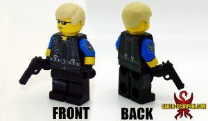 Custom LEGO Minifigure: Zombie Survivor: Evil Agent