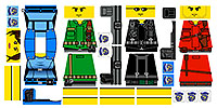 Custom LEGO Minifig Decals: Zombie Survivors