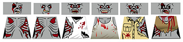 Custom LEGO Minifig Decals: Zombies