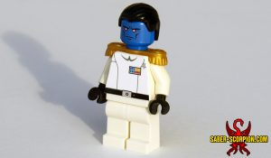 Space Wars Imperial Star Admiral Custom LEGO Minifigure