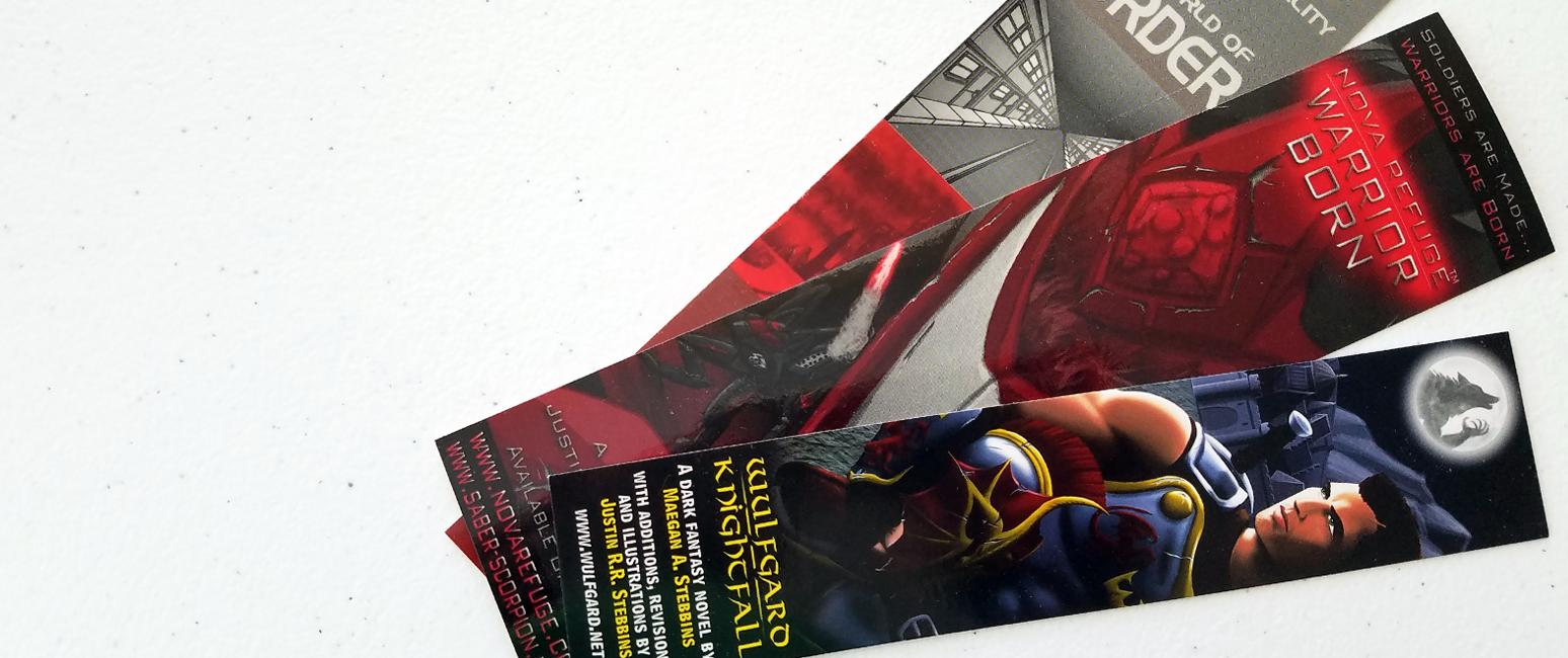 G4M3, Nova Refuge: Warrior Born, and Wulfgard Bookmarks