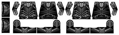 Fantasy Ebony Onyx Armor LEGO Minifigure Decals