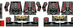 Sci-Fi Hellrazer Demon Armor Minifig Stickers