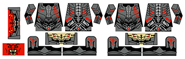Sci-Fi Hellrazer Demon Armor Minifig Stickers