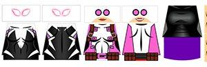 Pink Superhero LEGO Minifigure Stickers