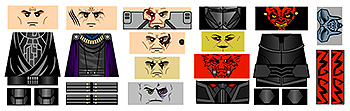 Space Wars Dark Star Lords Minifigure Decals