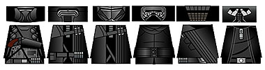 Space Wars Dark Star Lords Minifigure Decals