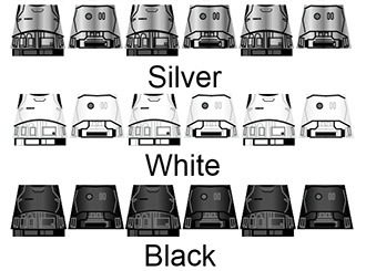 Space Wars Star Empire Trooper Armor Decals