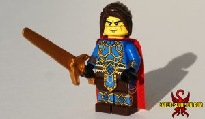 Warcaster Human King Custom LEGO Minifigure