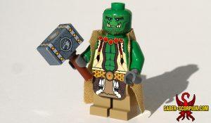 Fantasy Warcaster Orc Shaman Custom LEGO Minifigure