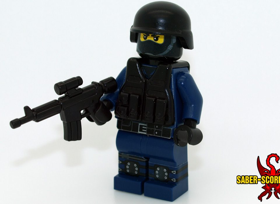 SWAT Trooper Custom LEGO Minifigure