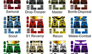 Alien Invasion Series 3 Cyborg Soldier Decals