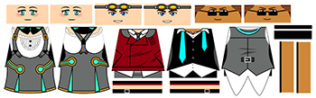 Anime Team Minifigure Decals