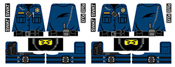 Police Officer Uniform Decals for LEGO Minifigures