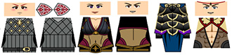 Anime Adventurers Minifigure Decals