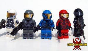 Sci-Fi Cyborg Spartan Soldiers Minifigures