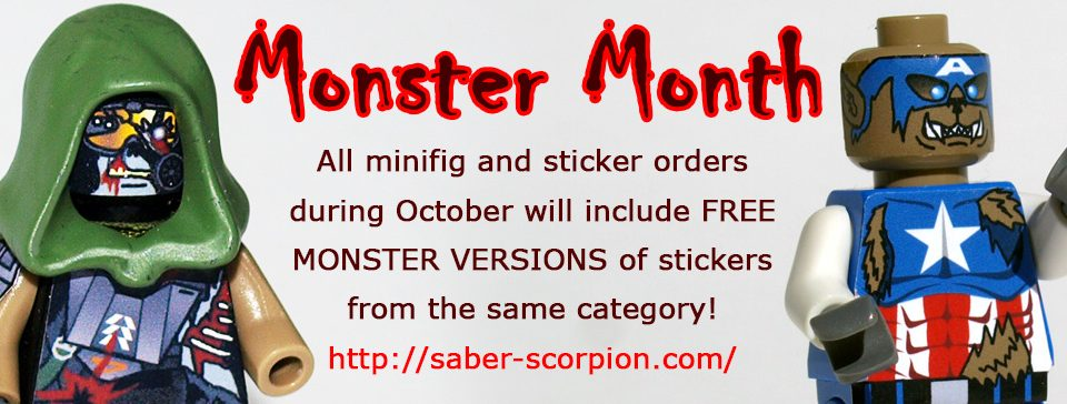 October is MONSTER MONTH at Saber-Scorpion's Lair!
