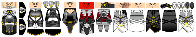 Space Wars Dark Royal Family Decals
