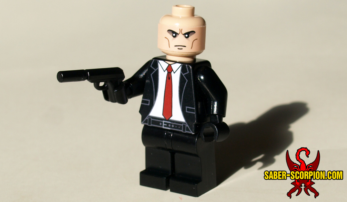 Custom Hitman Minifigure