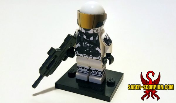 Cyborg Soldier Minifigure on Stand