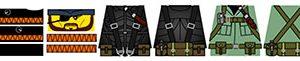 Espionage Action Minifigure Decals