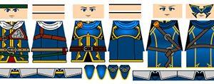 Anime Adventurers Minifigure Decals