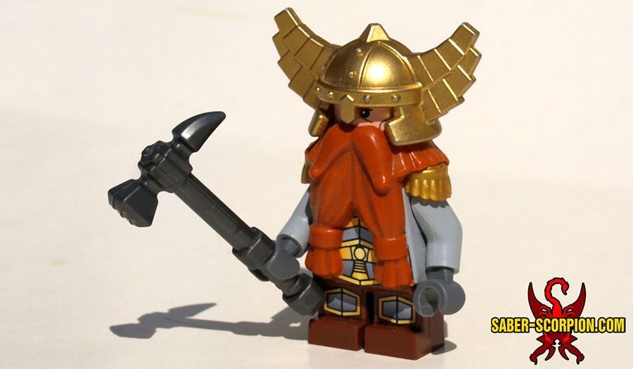 Dagfari Firebeard with the BrickWarriors Hammerpick