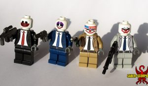 Custom LEGO Minifigures: Clown Mask Gang