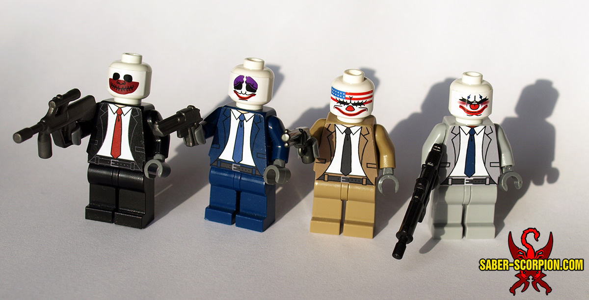 Custom LEGO Minifigures: Clown Mask Gang
