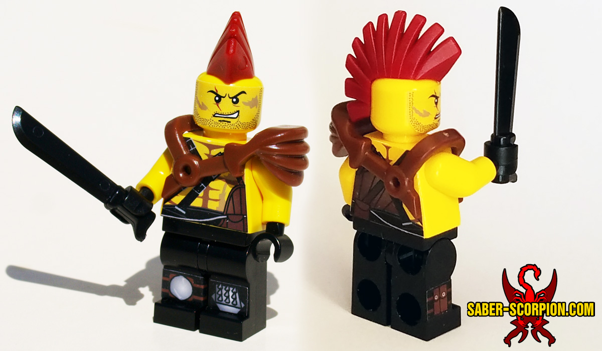 BrickWarriors Mohawk Hair and Gladiator Pauldron