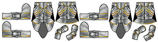 Gothic Plate Armor Minifigure Decals