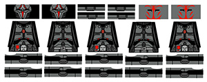 Armored Robe Minifigure Stickers
