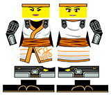Custom Minifig Stickers: Armored Ninja Girl
