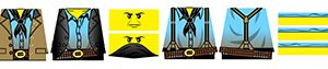 Custom LEGO Minifigure Stickers: Wild West Outlaw