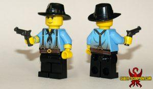 Custom LEGO Minifigure: Wild West Outlaw Leader